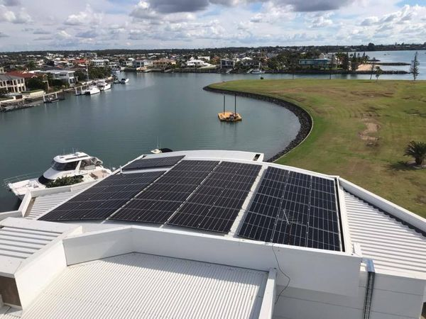 Solar Panel on a Commercial Building — Solar Specialists Queensland