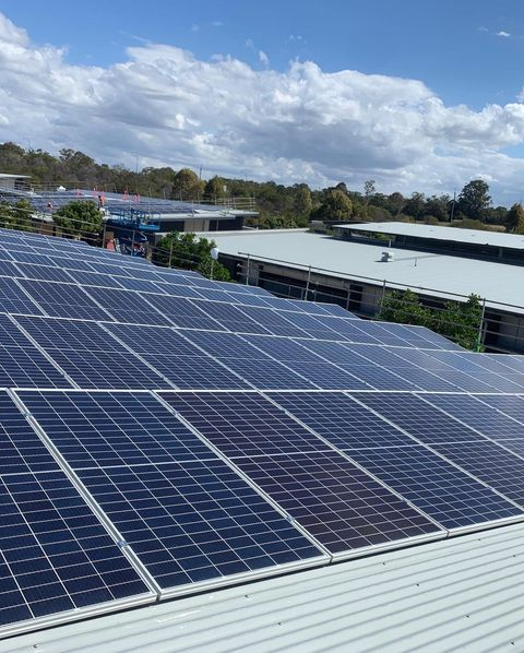 Many Solar Panels On Commercial Roof — Solar Specialists Rockhampton