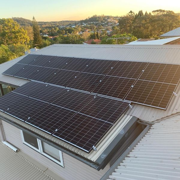 Large Solar Panel Array On Residential Rooftop — Solar Specialists Townsville