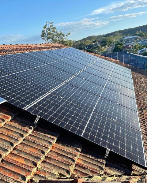 Residential Solar Panels On A Roof In Brisbane