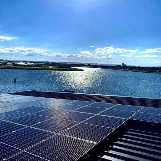 View of Solar Panel Beside a Lake — Solar Specialists Rockhampton